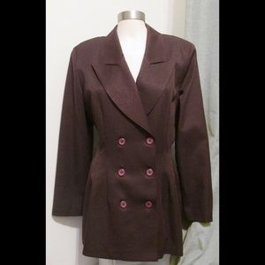 Burgandy La Belle Double Breasted Jacket